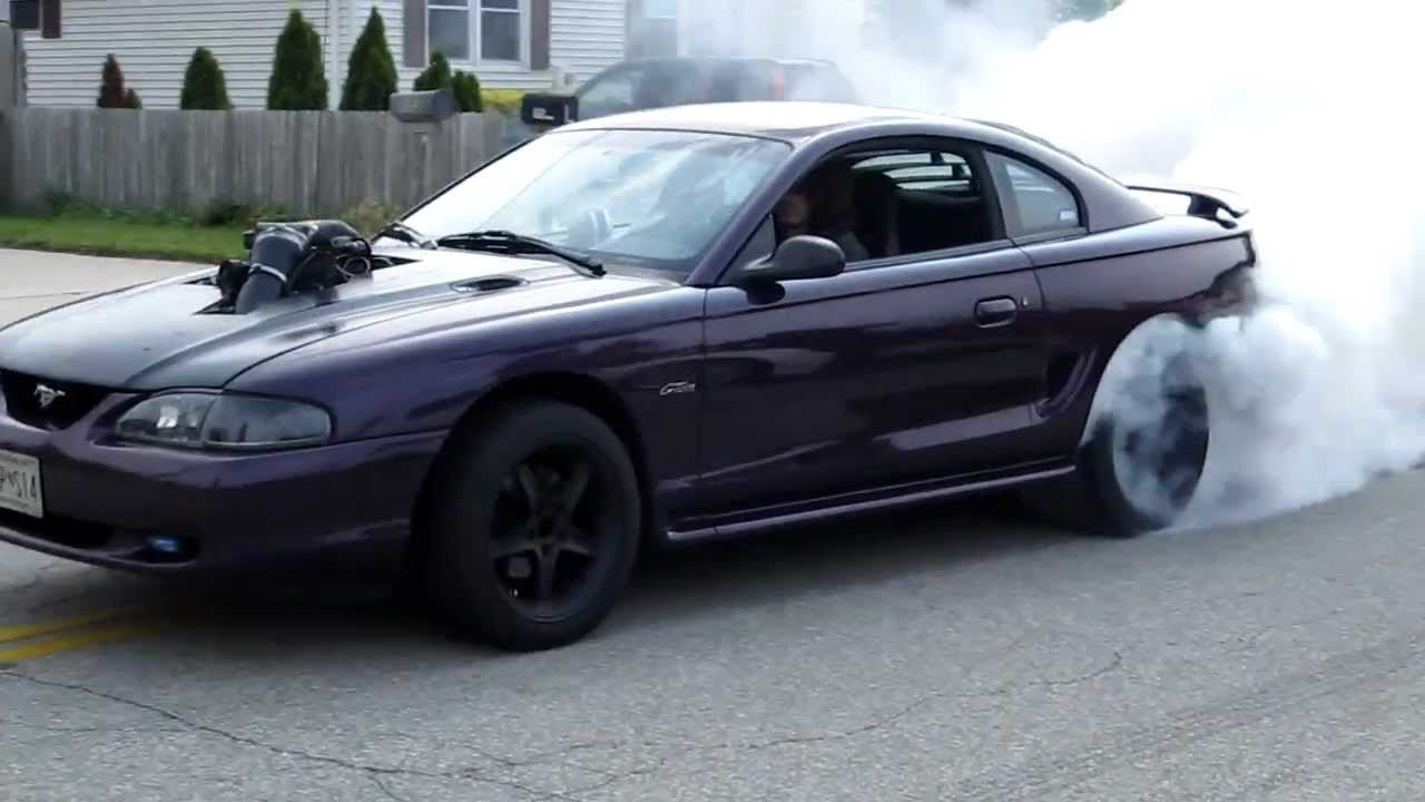 97 mustang gt 5 4 lightning swap burnout youtube