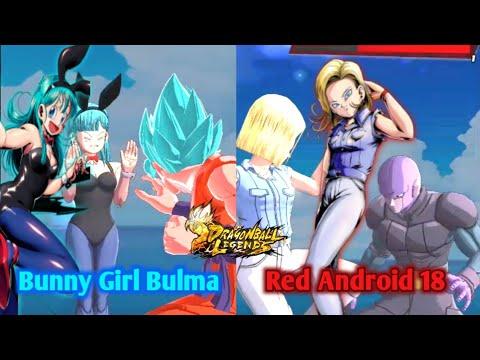 NEW Bunny Girl Bulma & Red Anroid 18 Showcase | Dragon Ball Legends Pvp