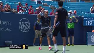 Hot Shot: Kubot/melo Show Quick Hands & Feel From Baseline In Brilliant Rally At Cincinnati 2018