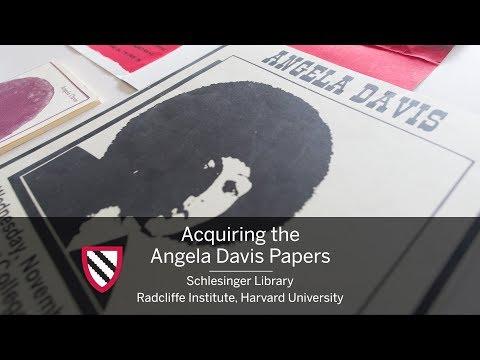 Acquiring the Angela Davis Papers || Radcliffe Institute