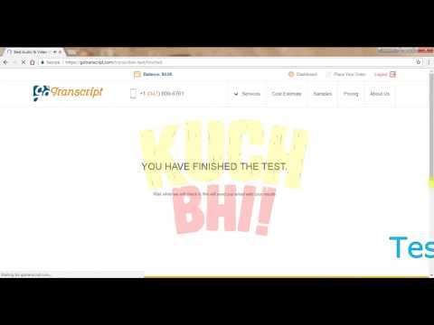 GO TRANSCRIPT : AUDIO TEST ANSWER : PART 2 by KUCH BHI!