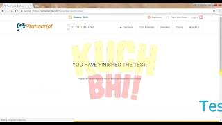 GO TRANSCRIPT : AUDIO TEST ANSWER : PART 2 by KUCH BHI! thumbnail