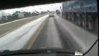 Highway 401 Driving Time-lapse London-Toronto-Windsor in a Snow Storm