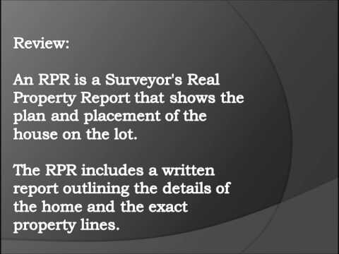 Real Property Report - Calling all homeowners!