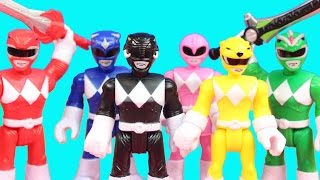Imaginext Power Rangers Blue Green Pink Yellow Black Red Ranger Battle Putty Patrol Toys