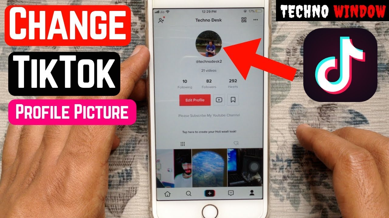 How To Change Tik Tok Profile Picture Youtube