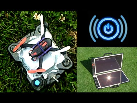 Solar Powered, Wireless Energy Drone Charger Technology