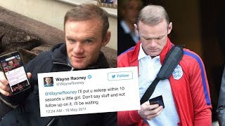 A song made up of wayne rooney's old tweets