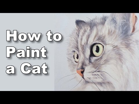 how to paint a cat in oil time lapse painting tutorial