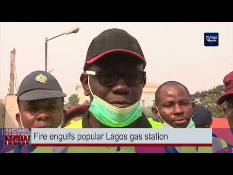 Fire engulfs popular Lagos gas station