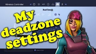 My deadzone settings