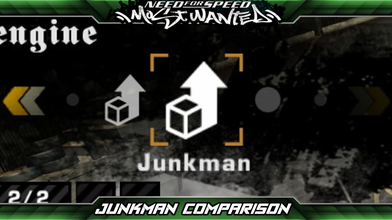 Need for Speed: Most Wanted - Junkman Parts Comparison