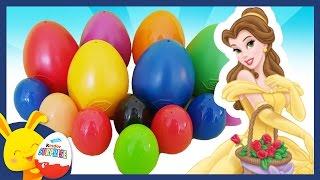 Oeufs surprises de couleurs Disney Special la Belle et la Bête. Touni Toys Titounis