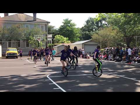 Malabar Unicycle Act part I   Circus Arts International School of Louisiana Uptown Campus
