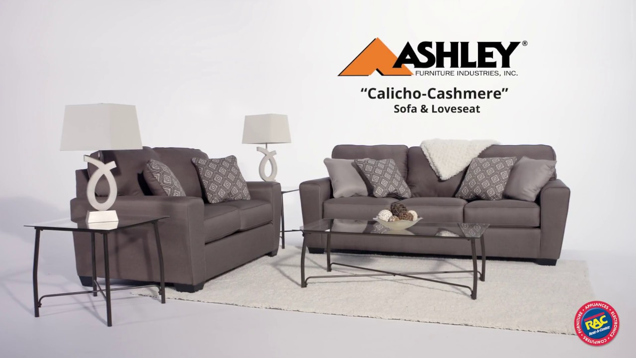 Revamp your living space with the ashley calicho sofa and loveseat by rent a center