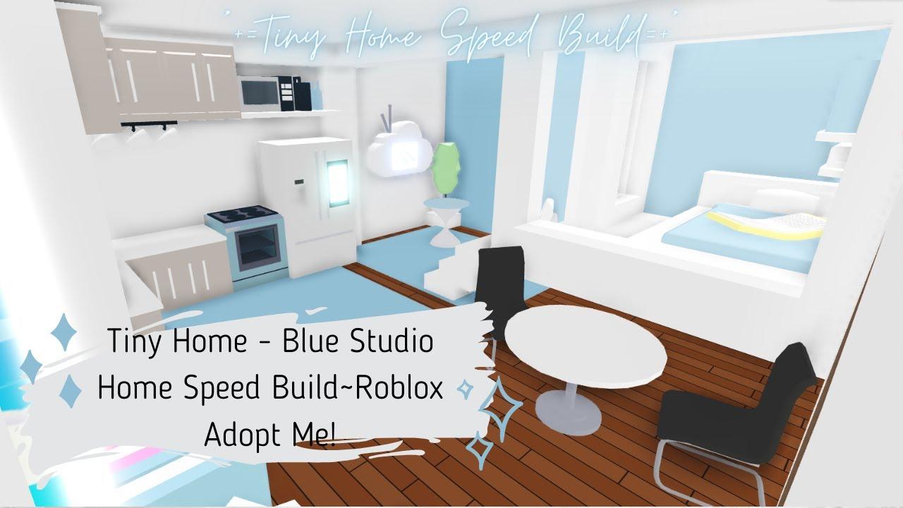 Tiny Home Blue Studio Home Speed Build Roblox Adopt Me Youtube