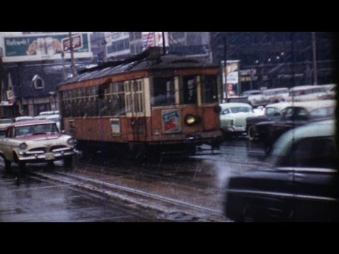 1958 film shows final day of Milwaukee's old streetcar