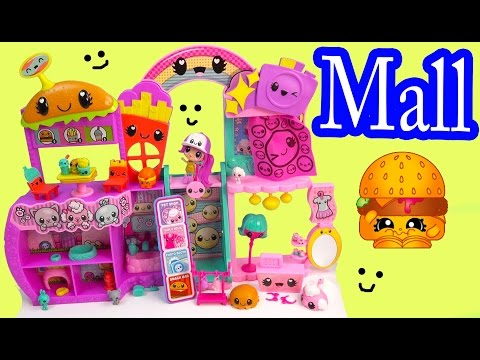 Kawaii Crush Hyper Happy MALL PLAYSET Pet Shop Food Court Shopkins Shopping Toy Unboxing Video