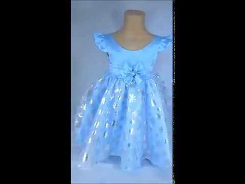 Vestido de festa infantil elsa frozen