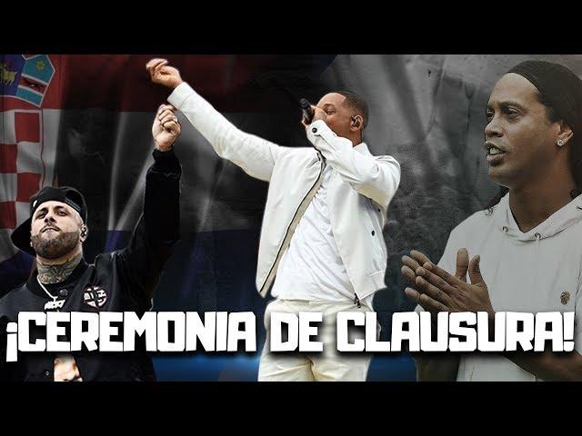 Nicky Jam, Will Smith y Ronaldinho despiden el Mundial Rusia 2018