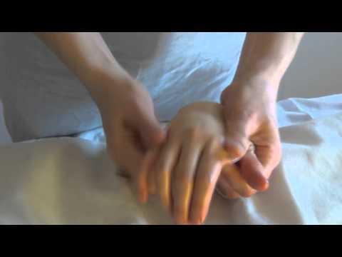 Массаж рук с касторовой эмульсией «Рициниол»