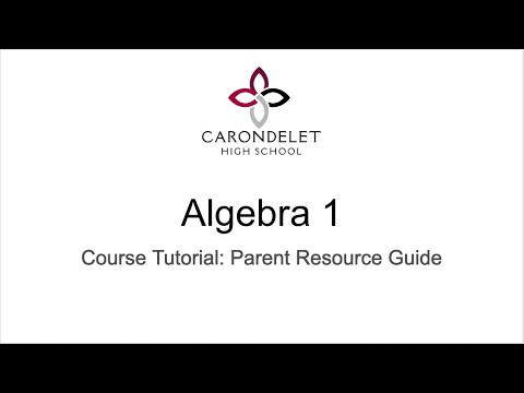 Algebra 1 Mastery Based Program at Carondelet High School