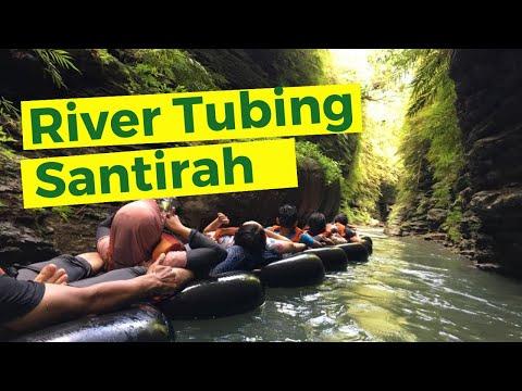 Wisata Di Green Santirah, Mengarungi Sungai Dengan River Tubing