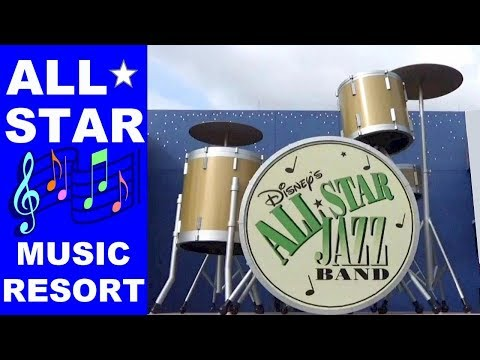 Disney's All-Star Music Resort: Room Tour Walk Around Calypso Pool, Food Court, Arcade, Check-In WDW
