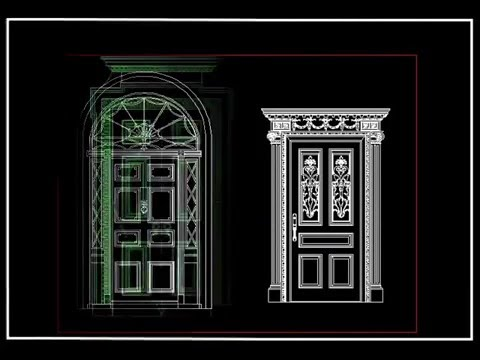 【autocad Block】european Classical Decorative Design V 2