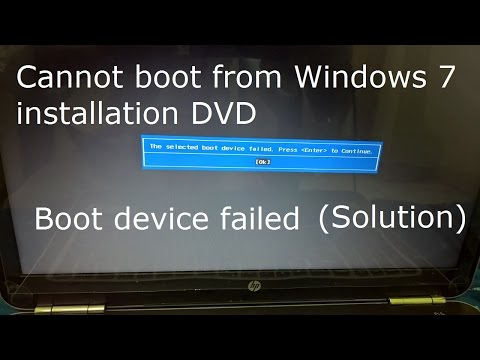 How to fix The selected boot device failed. Press Enter to continue in HP Pavilion Laptop