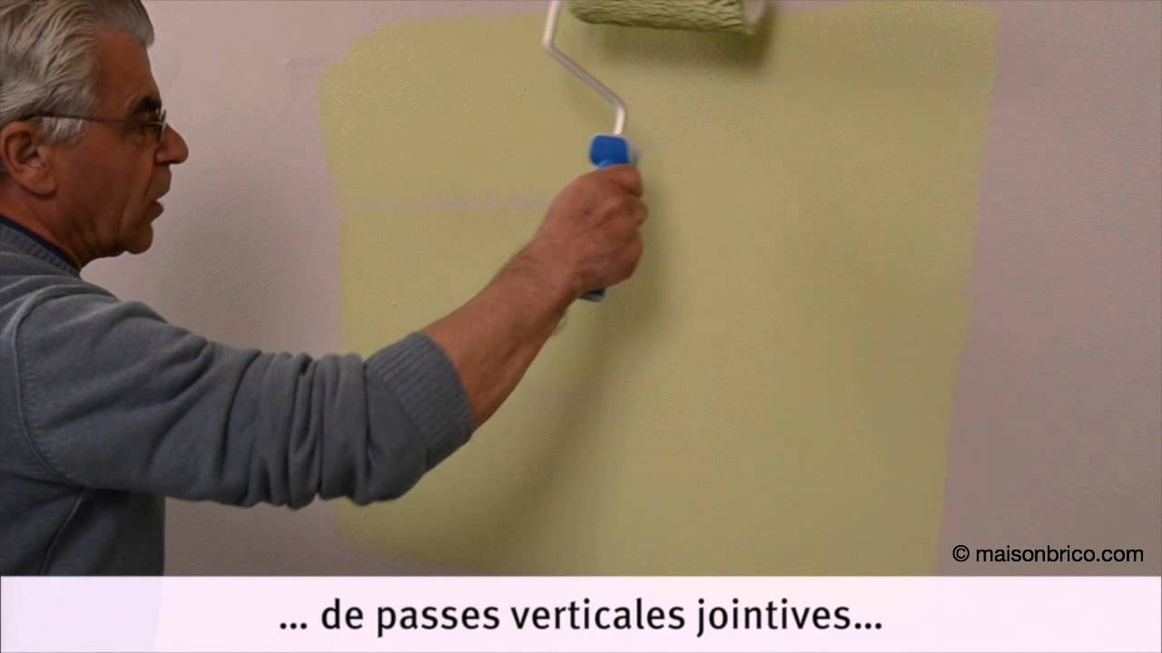 Comment Bien Peindre Un Mur En Blanc peindre au rouleau