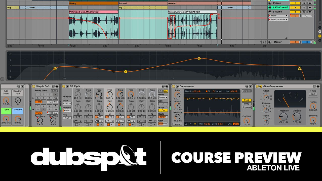 Electronic Music Production w/ Ableton Live 9! Dubspot Course Preview!