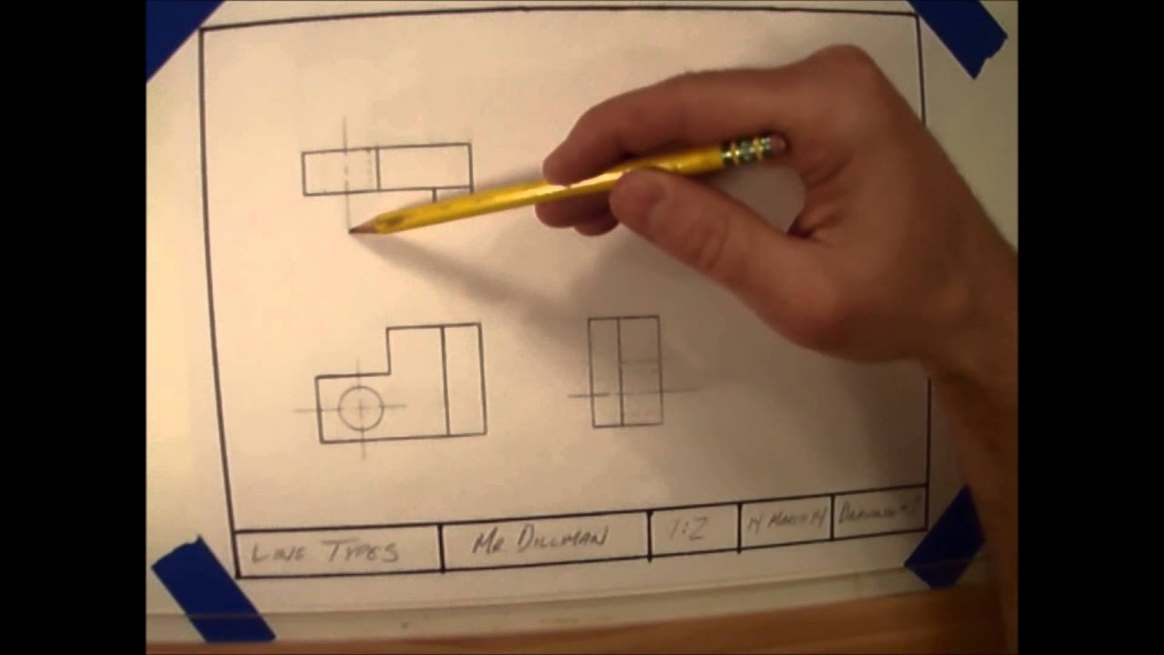 Line Types In Technical Drawings Youtube