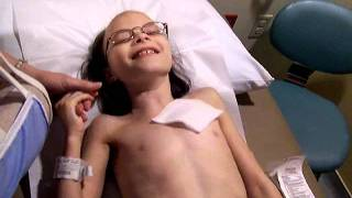 Juliana Carver getting her port accessed for Chemotherapy (Sept 12 2011)