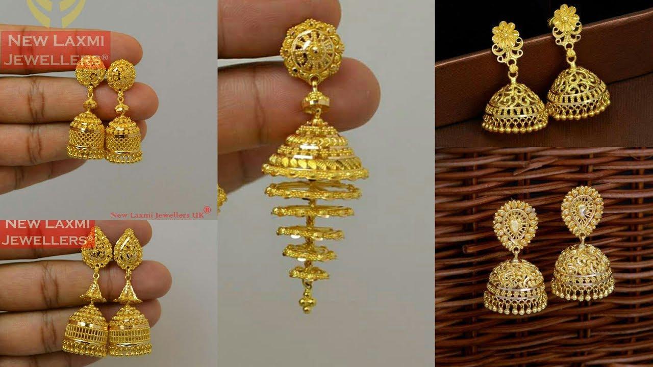 Gold Earrings Jhumkas Designs