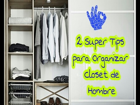 Ideas para organizar un closet peque o de hombre youtube for Ideas para closets pequenos