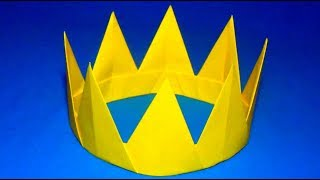 Оригами корона. Как сделать корону из бумаги своими руками Origami crown