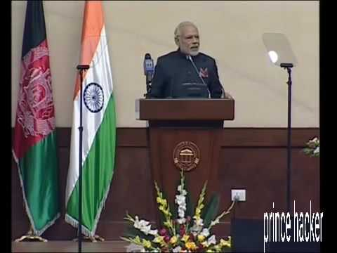 Afghanistan PM Narendra Modi Parliament Speech | 50 Time Clapping