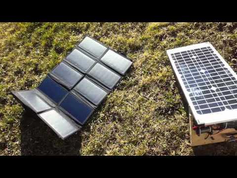 Allpowers 60w folding solar panel testing