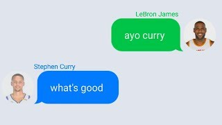 LeBron James Texting Stephen Curry Wanting To Join Warriors