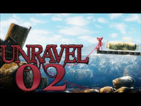 Unravel Walkthrough Part 2 | The Sea | No Commentary Gameplay