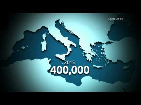 400,000 refugees to cross the Mediterranean this year