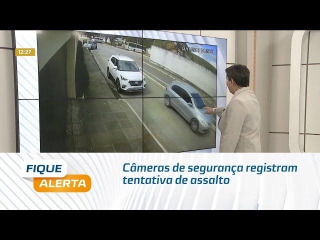 Câmeras de segurança registram tentativa de assalto em São José da Laje
