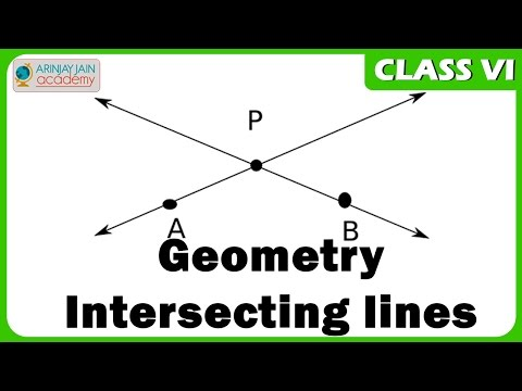 Geometry - Intersecting lines  - Maths Class VI - CBSE/ ISCE/ NCERT