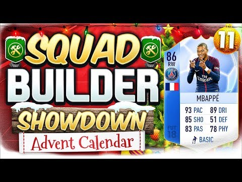 FIFA 18 SQUAD BUILDER SHOWDOWN!!! TEAM OF THE GROUP STAGE MBAPPE!!! Advent Calendar Day 11 Vs Rob