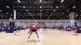 Chloe Rutledge (class of 2019) Libero #13 June 2017 AAU defense highlights
