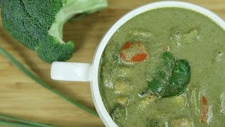 How To Make Thai Green Curry | Thai Green Curry Recipe | Thai Recipes Vegetarian | Ruchi's Kitc
