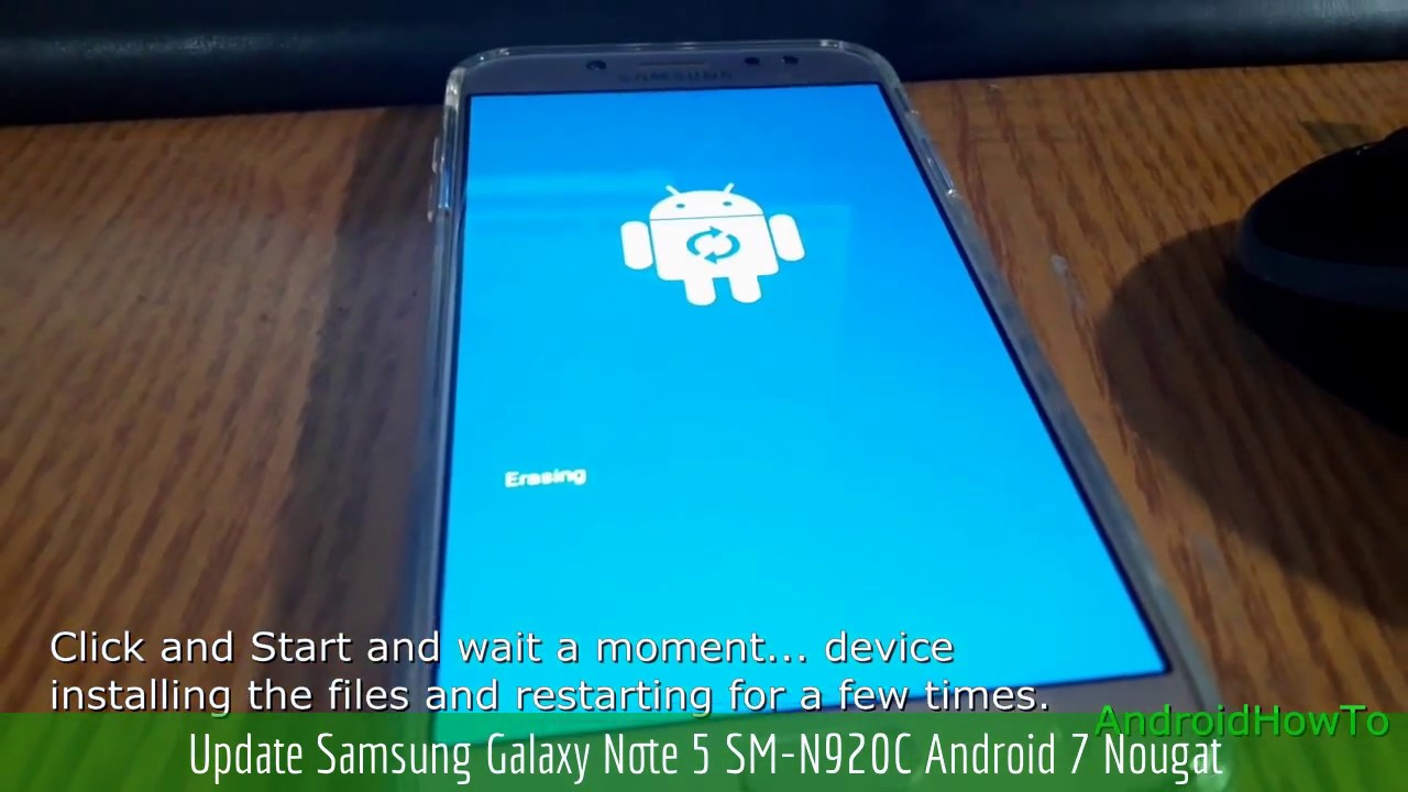 Update Samsung Galaxy Note 5 SM-N920C Android 7 Nougat