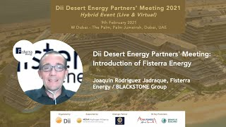 Dii Desert Energy Partners' Meeting: Joaquín Rodríguez Jadraque, Fisterra Energy / BLACKSTONE Group