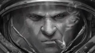 StarCraft 2 Black and white Illustration - jlorka speed painting